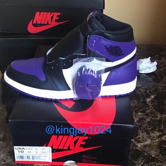 online retailer 90d95 4adf8 Court purple Jordan 1s NWT